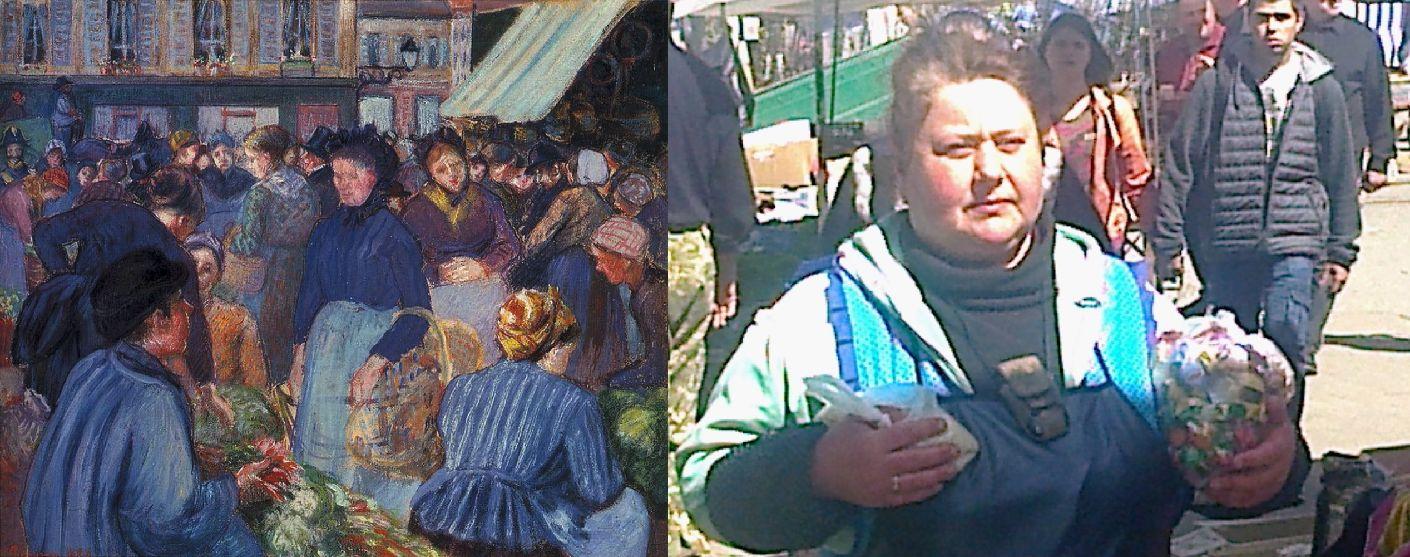 Камиль Писсарро. Рынок вГизоре. 1889/ світло (ВКонтакте) 2019