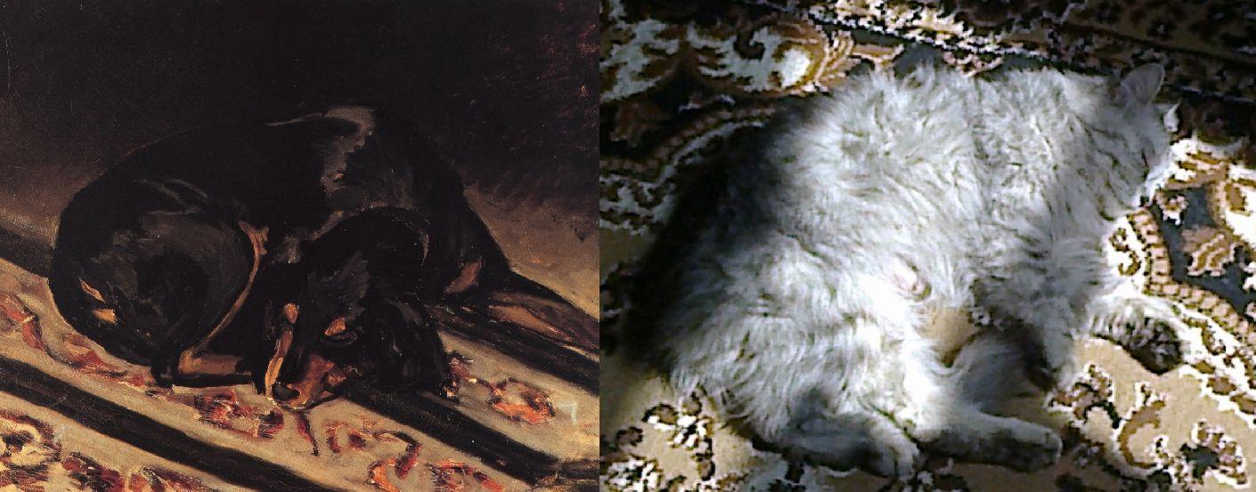 Фредерик Базиль. Собака Рита спит. 1864/ світло (ВКонтакте) 2019