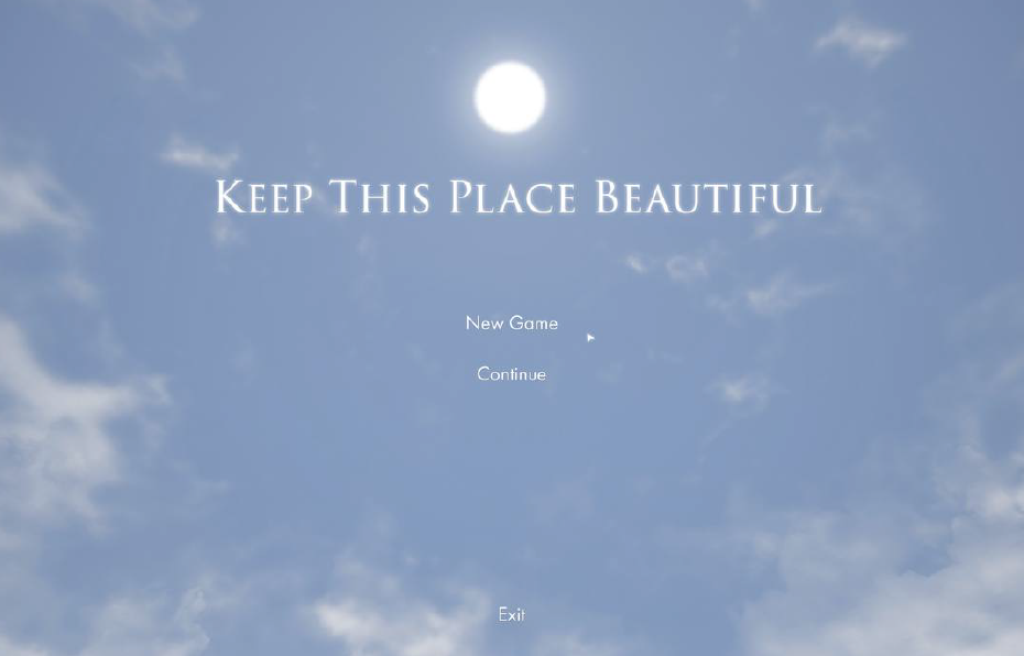 Диана Артемьева, игра Keep This Place Beautiful, Unreal