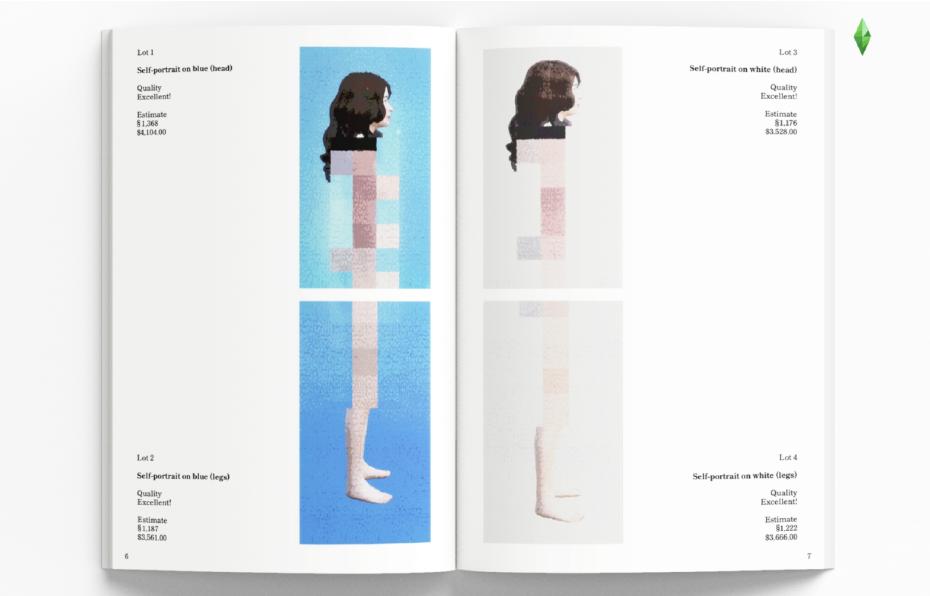 Диана Артемьева, выставка-аукцион, «127715: Искусство, созданное вThe Sims4», фрагмент каталога