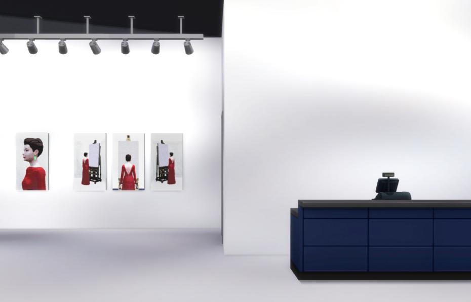 Диана Артемьева, выставка-аукцион, «127715: Искусство, созданное вThe Sims4», виртуальное пространство